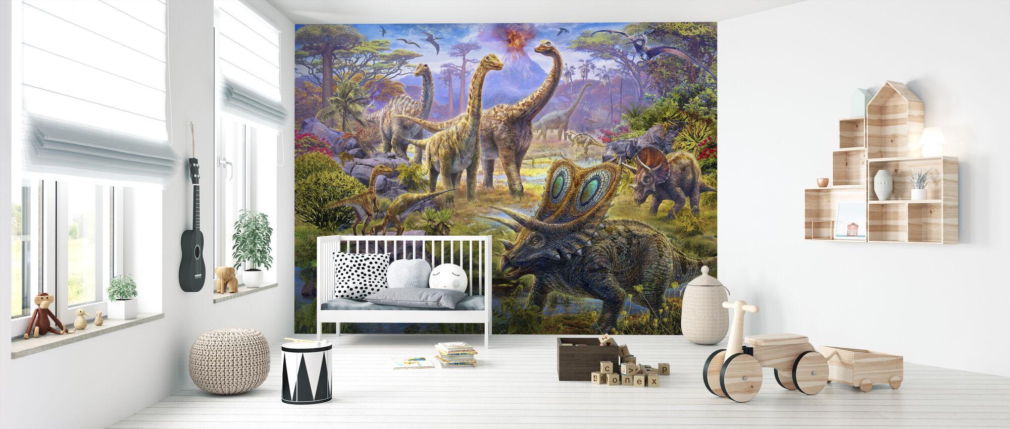 Sauropoder - Tapet - Babyværelse