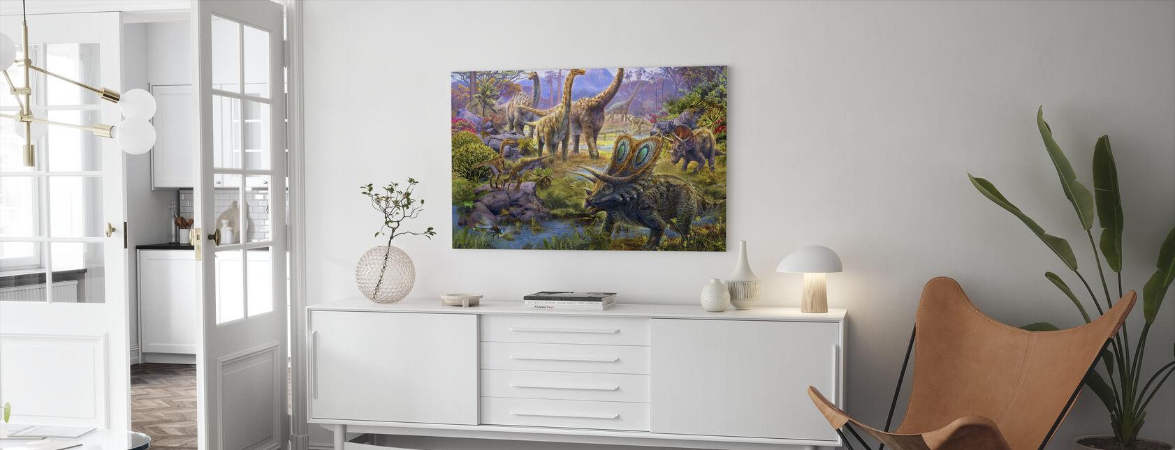 Sauropoder - Billede på lærred - Stue