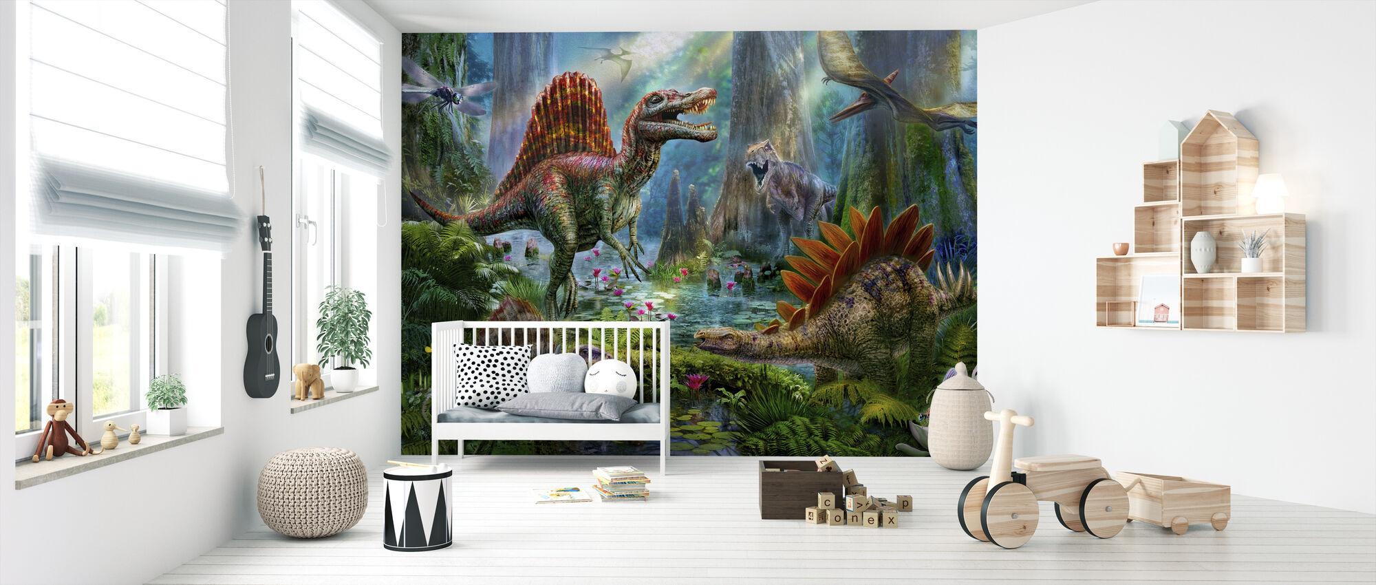Spinosaur - Tapet - Babyværelse