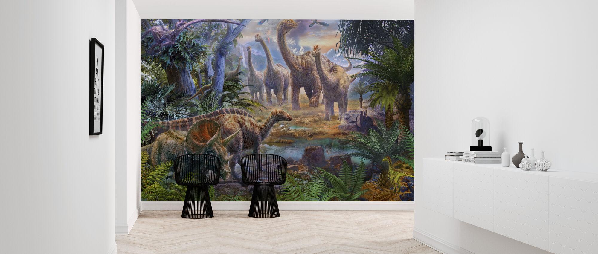 Dinos Waterhole - Wallpaper - Hallway