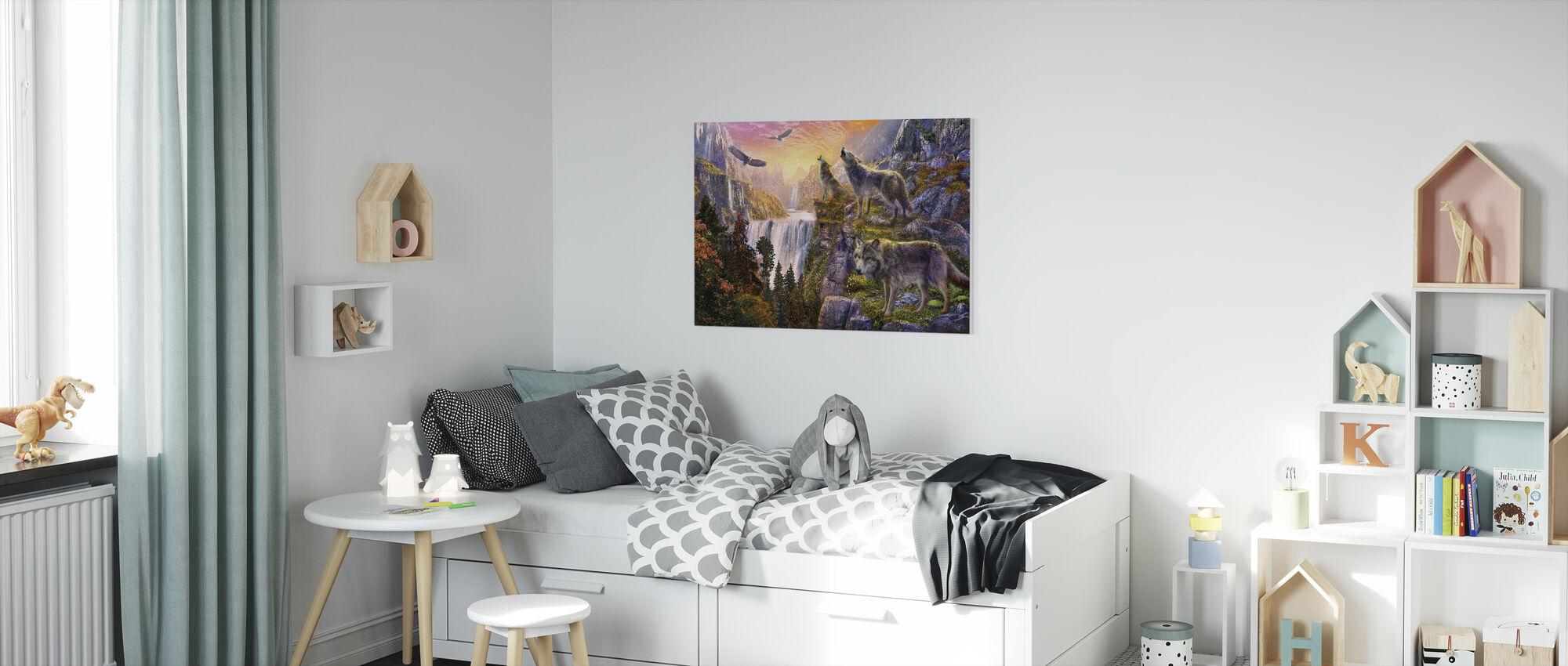 Wolf Zon - Canvas print - Kinderkamer