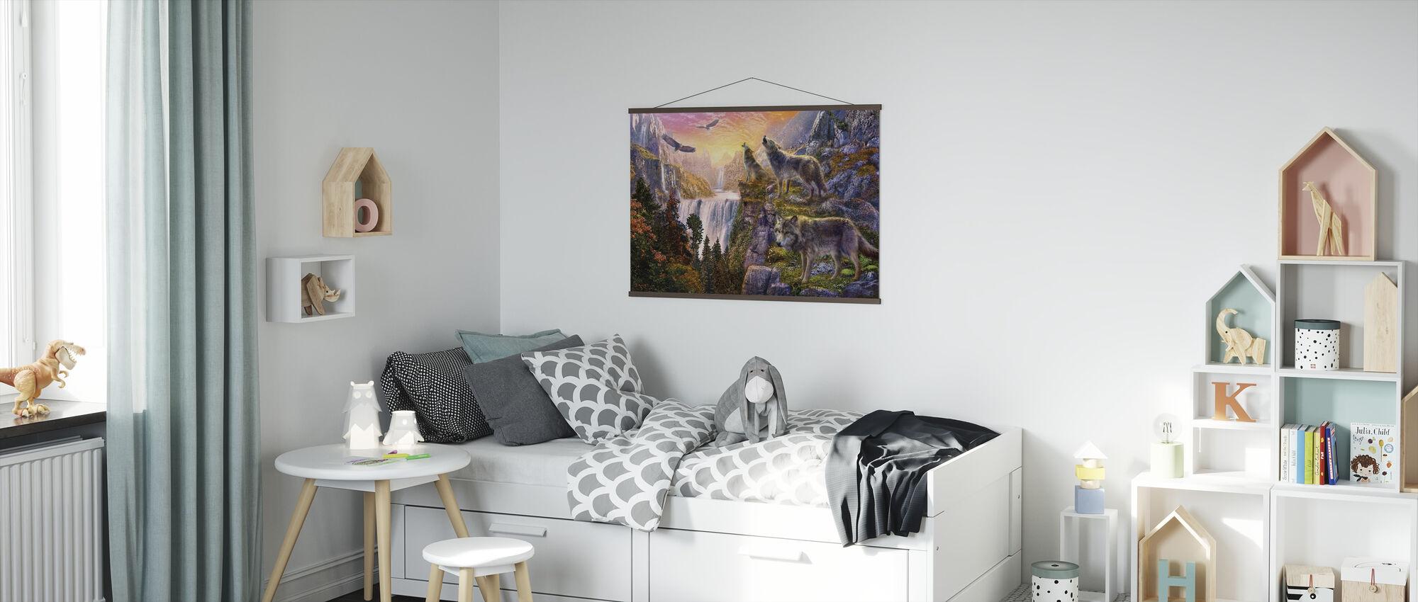 Wolf Sun - Poster - Kids Room
