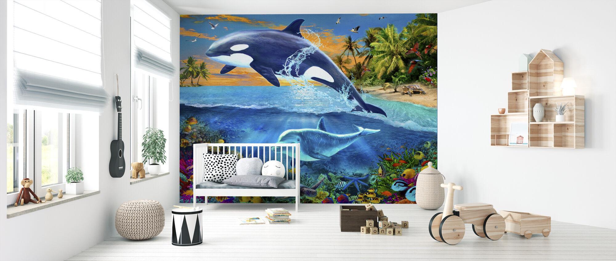 Whale - Wallpaper - Nursery