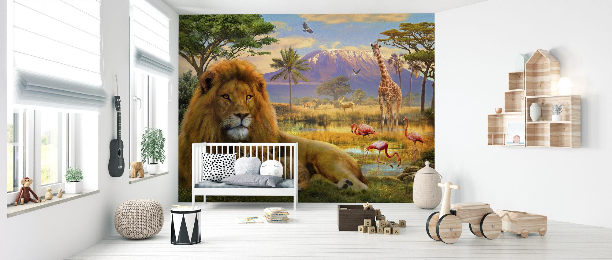 Leeuw - Behang - Babykamer