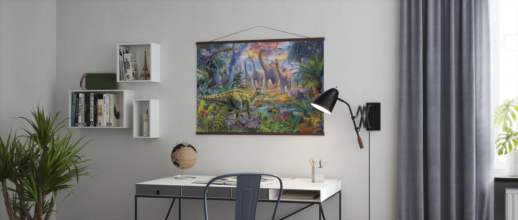 Hadrosaurus Sauropod - Poster - Office