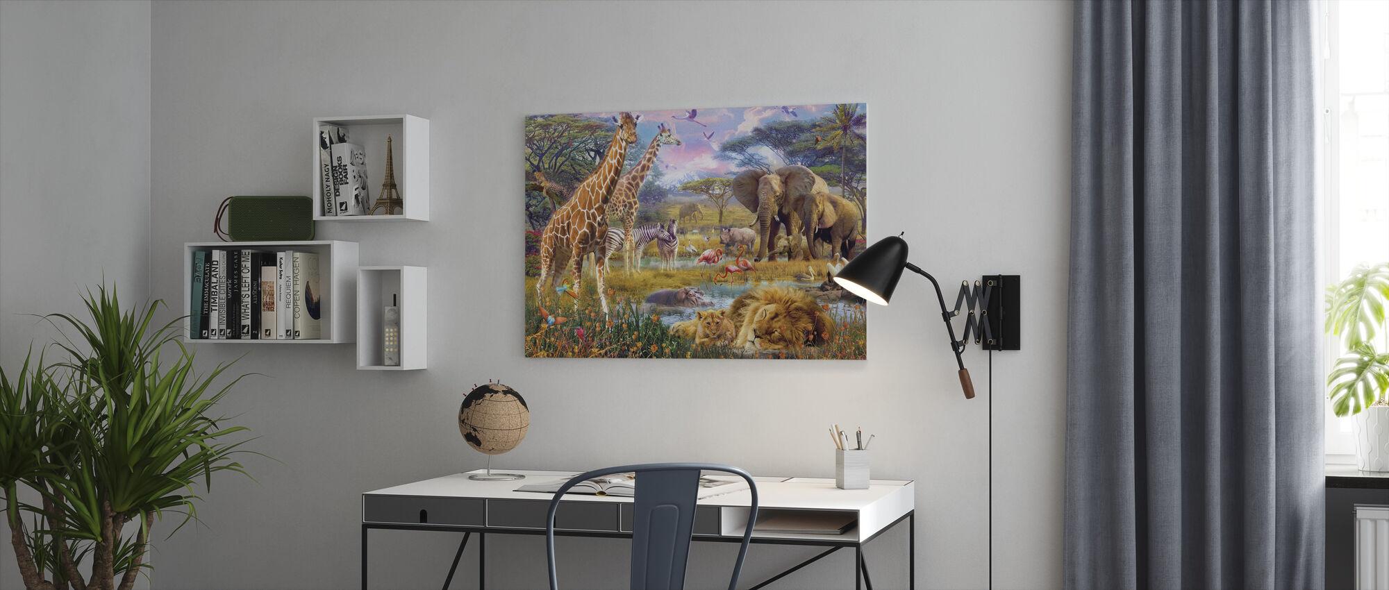 Savannah Animals - Canvas print - Office