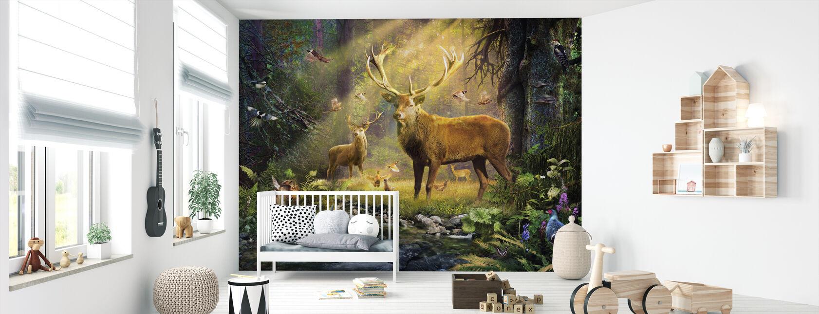 Sollys hjorte - Tapet - Babyværelse