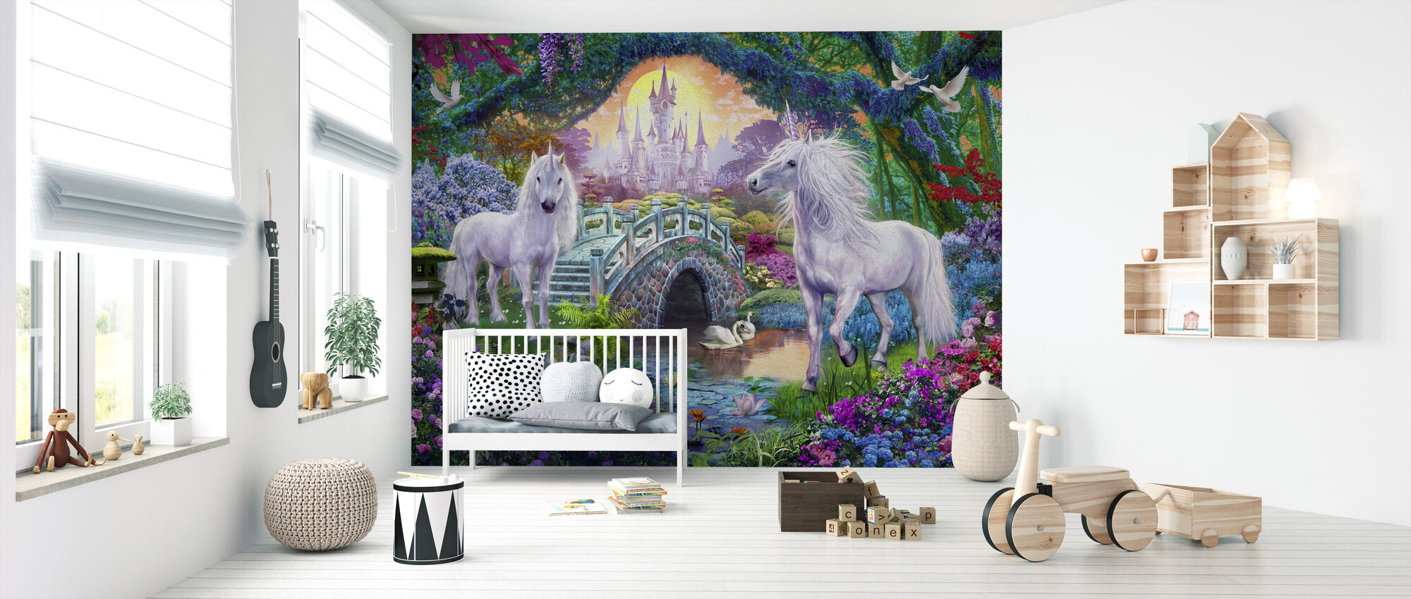 Magiska Unicorn Kingdom - Tapet - Babyrum