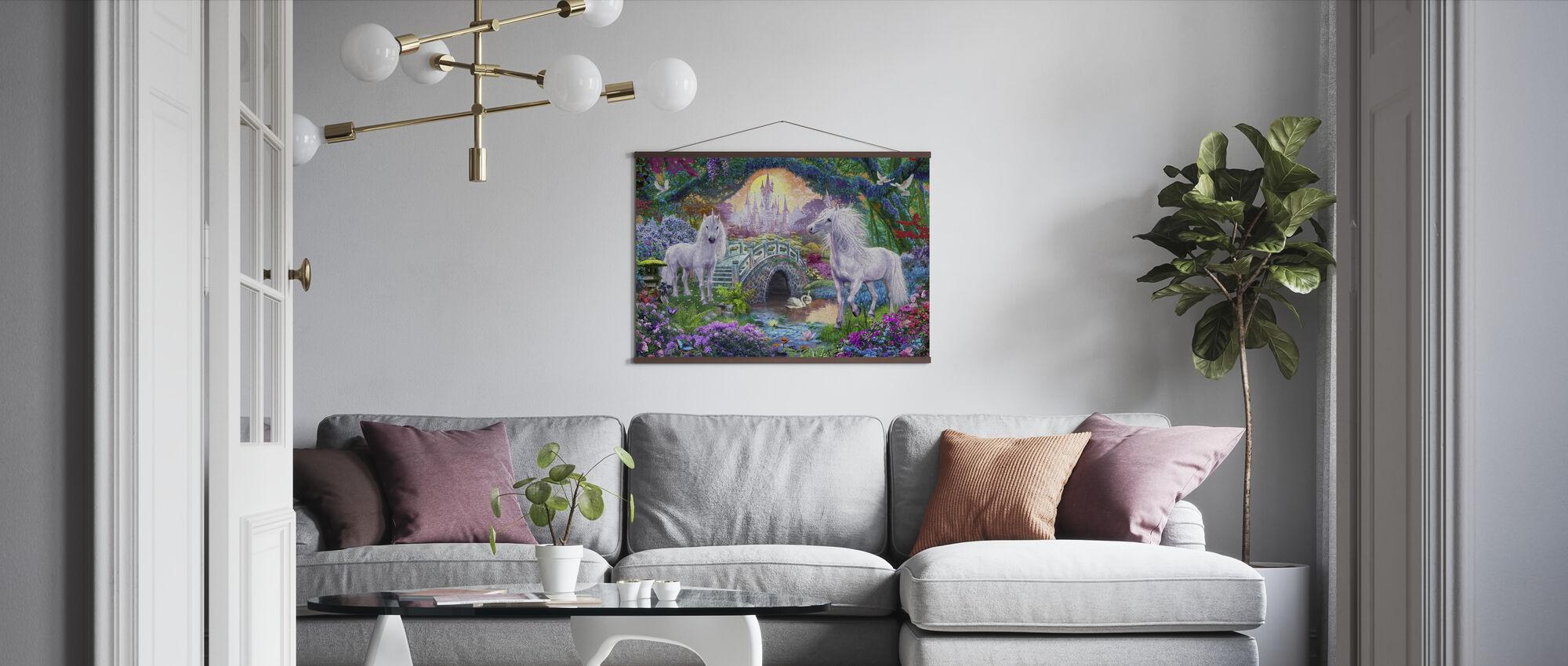 Magiska Unicorn Kingdom - Poster - Vardagsrum