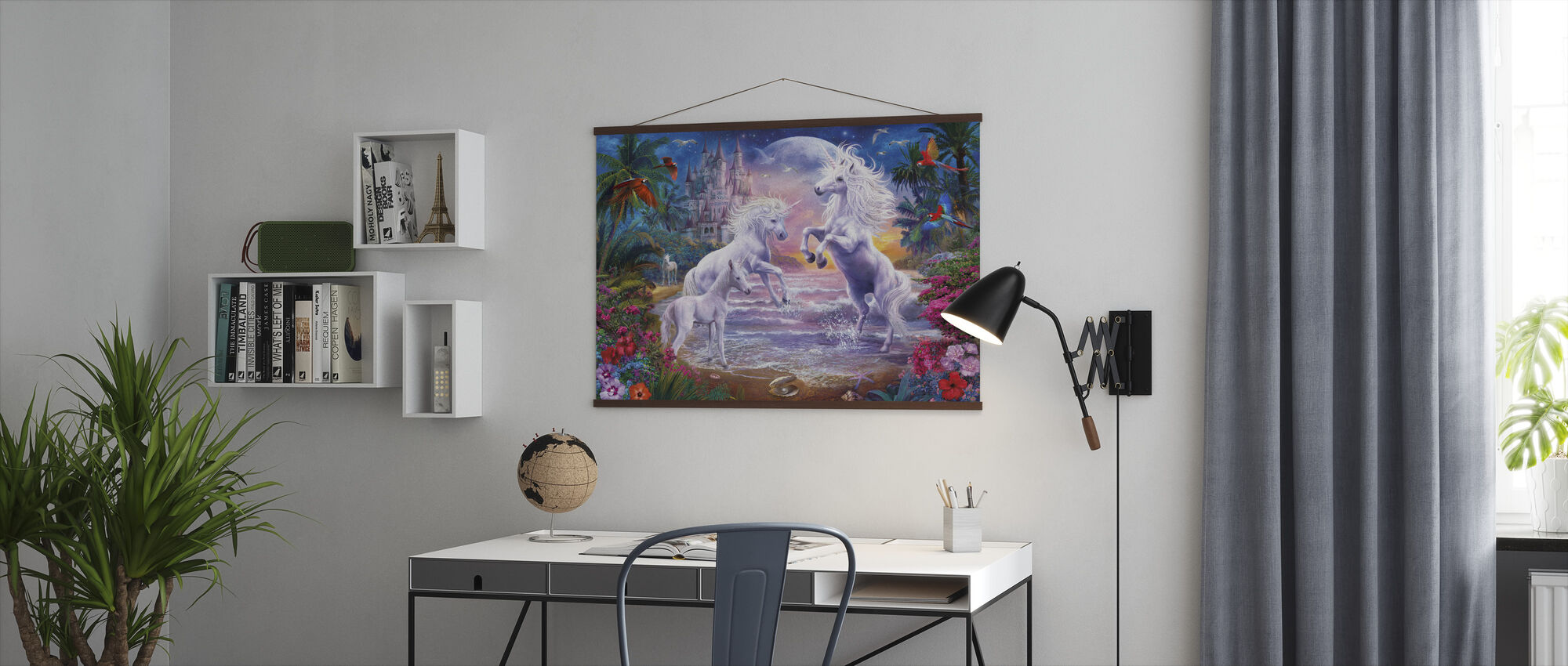 Beach Unicorns - Poster - Office
