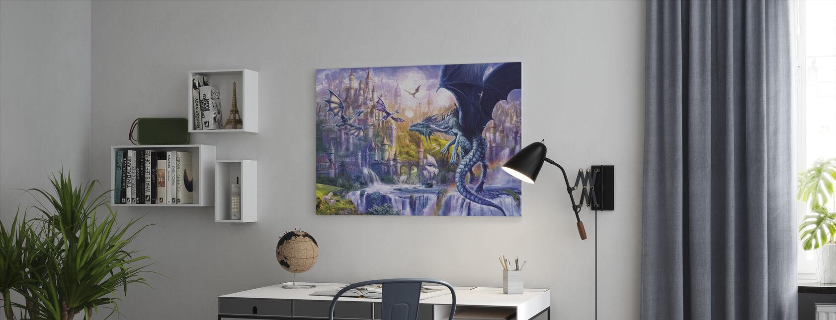 Dragon slott - Lerretsbilde - Kontor