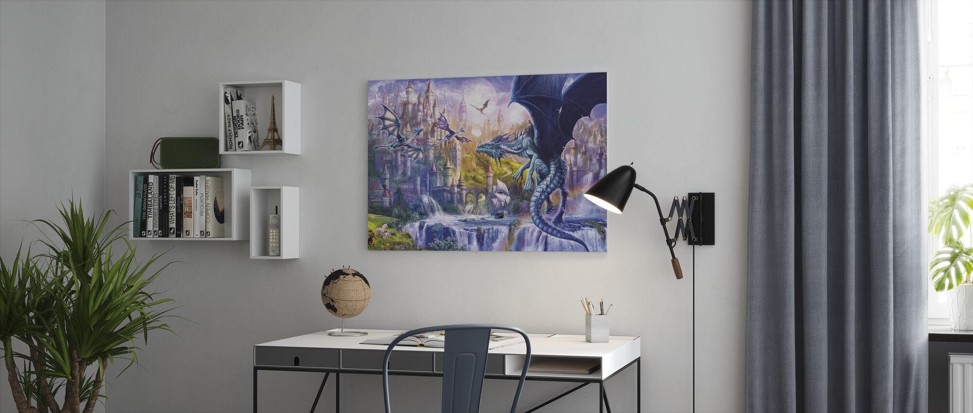Dragon slott - Canvastavla - Kontor