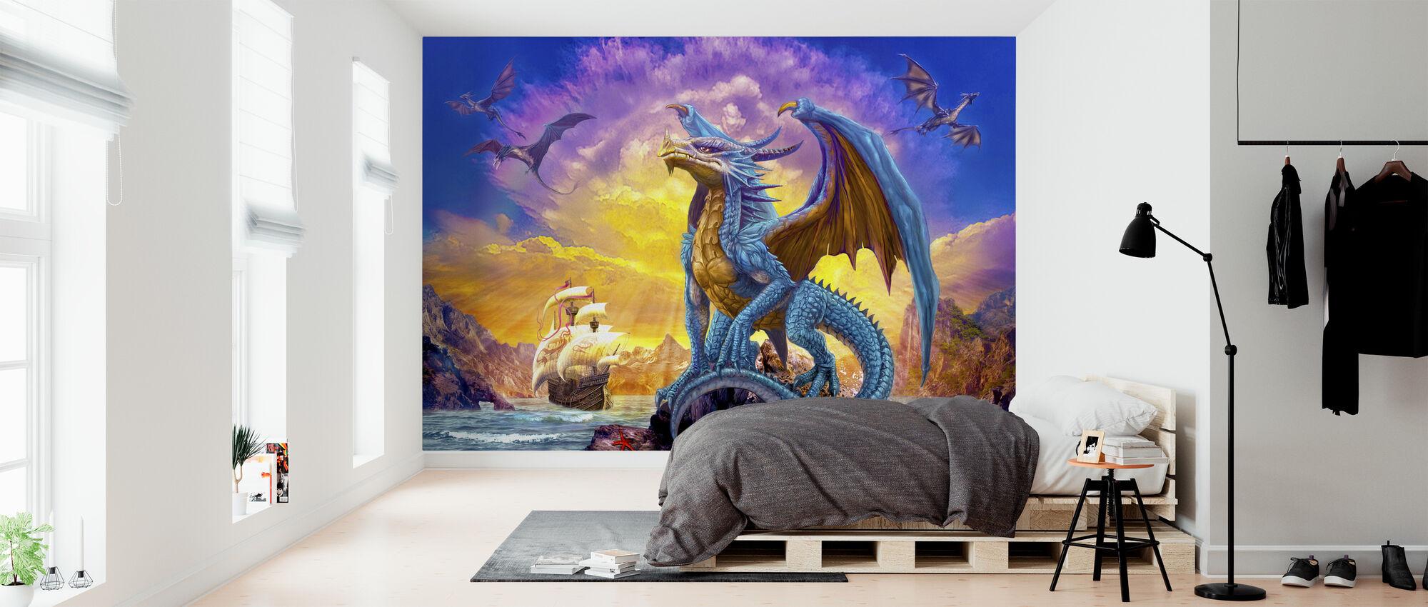 Dragons and Ship - Wallpaper - Bedroom
