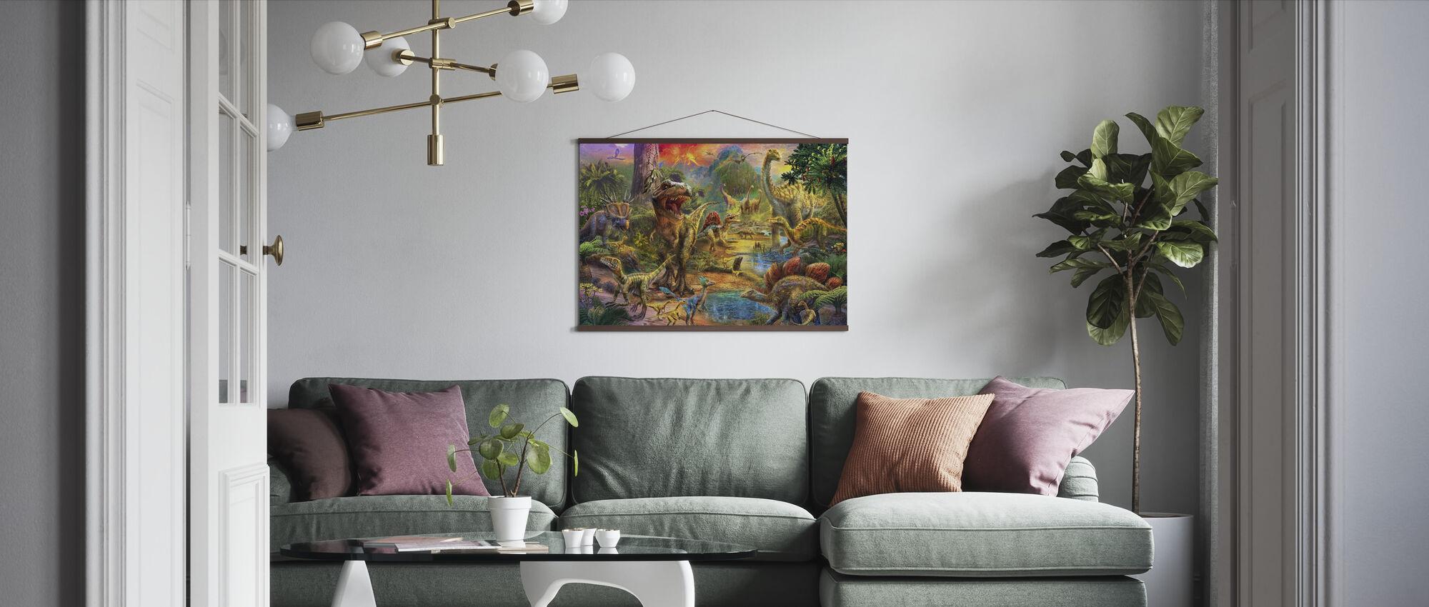 Landskapet av dinosaurer - Plakat - Stue