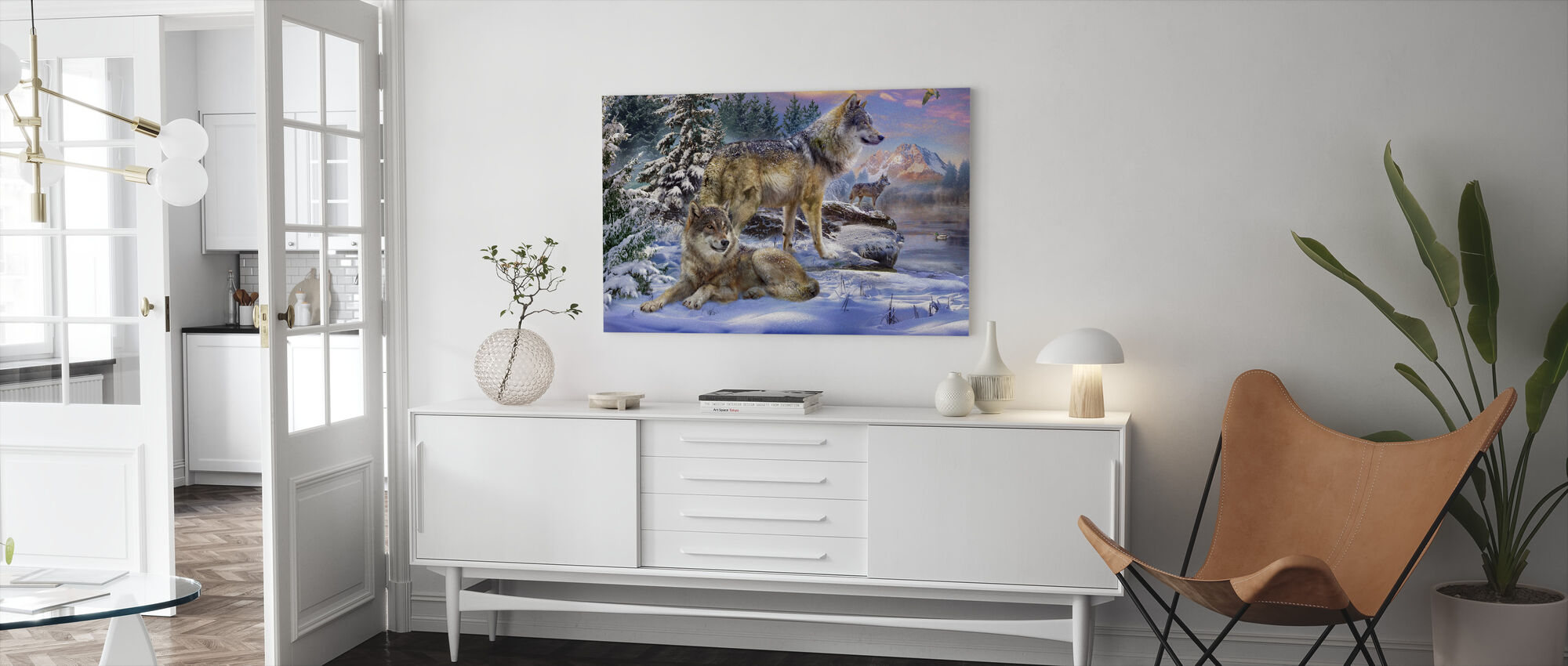 Wolves in Winter - Canvas print - Living Room