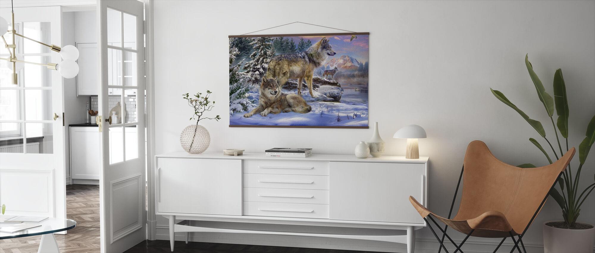 Wolves in Winter - Poster - Living Room
