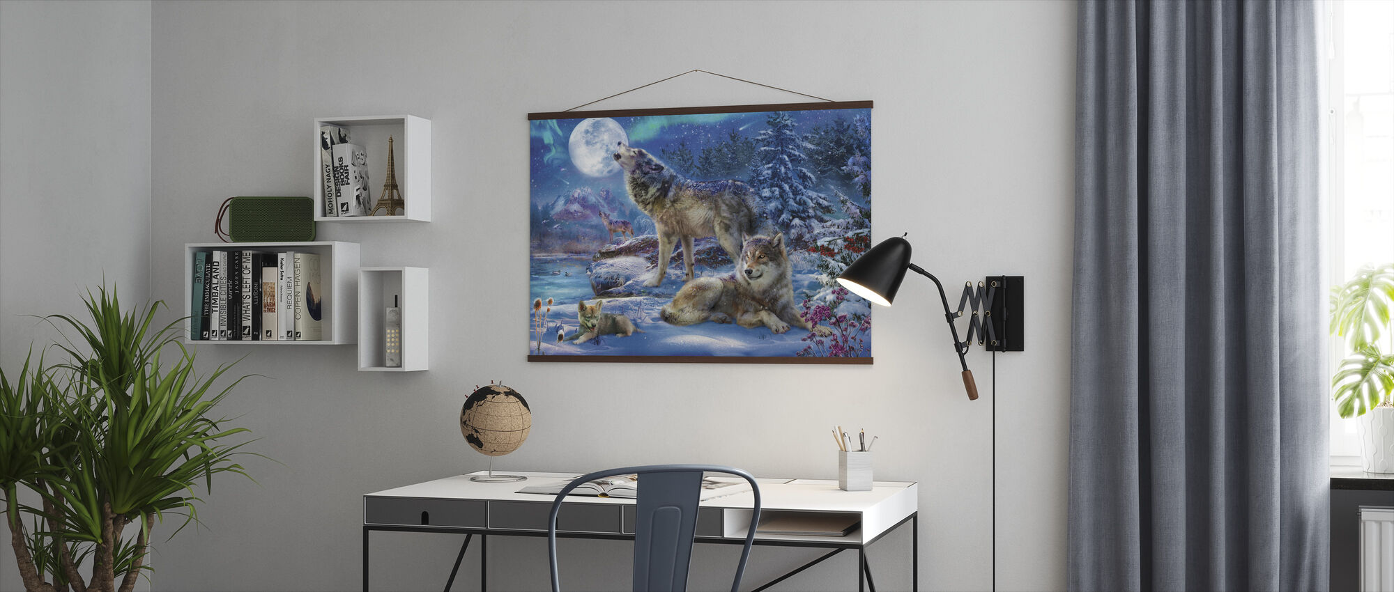Winter Wolf Family - Poster - Office