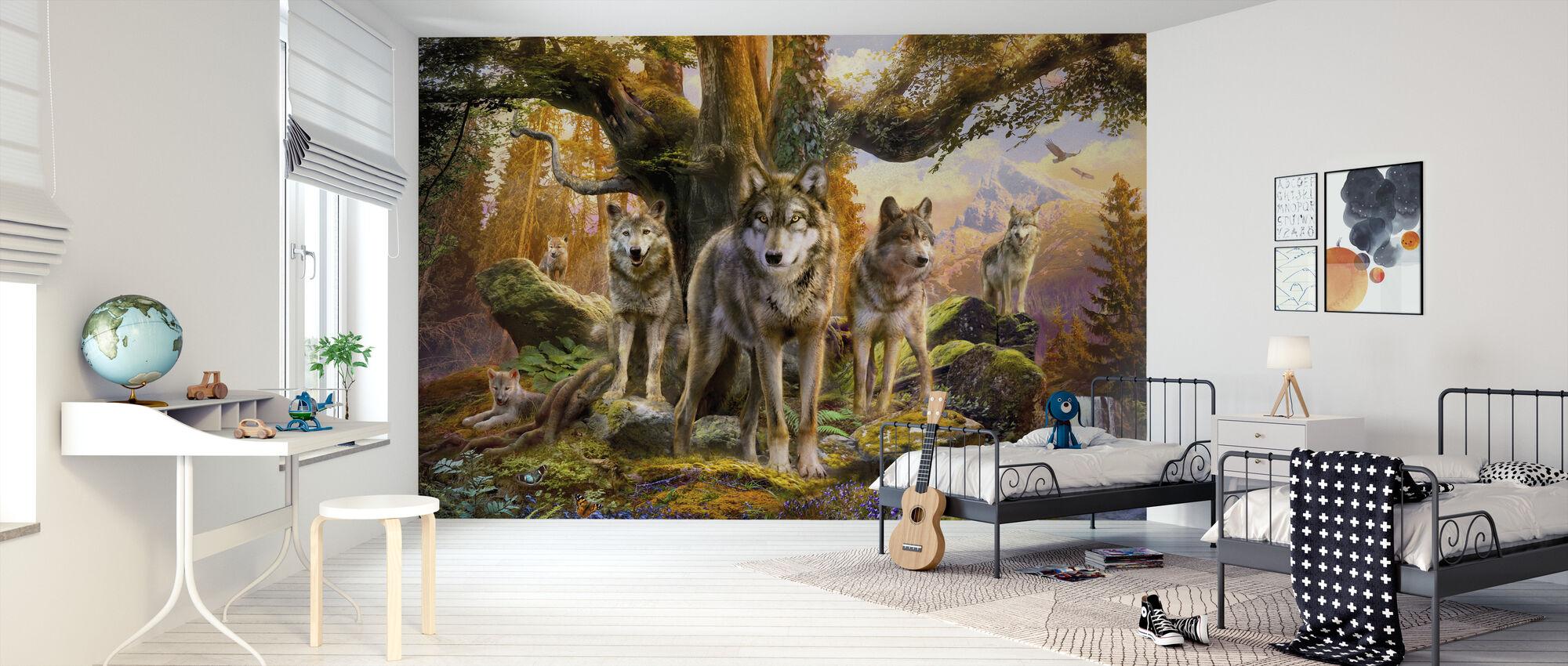 Wolves - Wallpaper - Kids Room