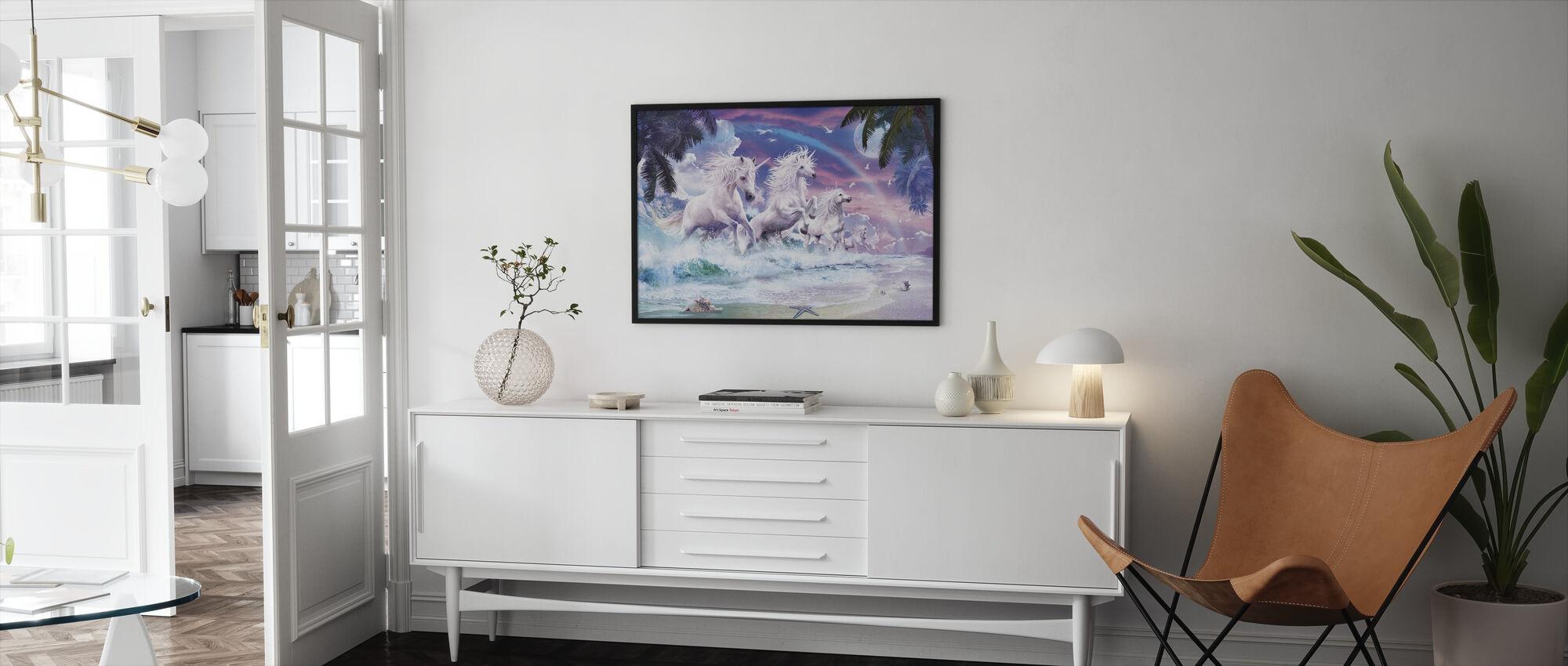 Yksisarvinen aallot - Kehystetty kuva - Olohuone