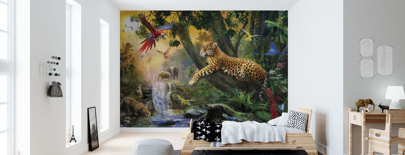 Leoparder i junglen - Tapet - Børneværelse