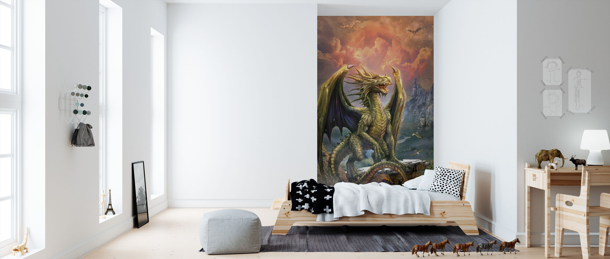 Dragon on the Rock - Wallpaper - Kids Room