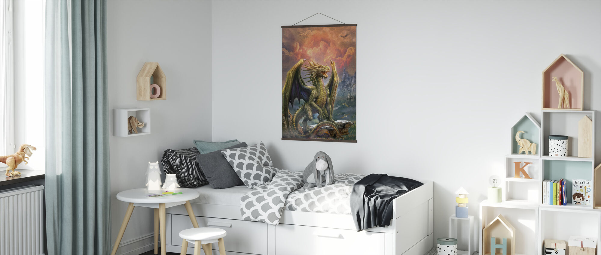 Dragon on the Rock - Poster - Kids Room
