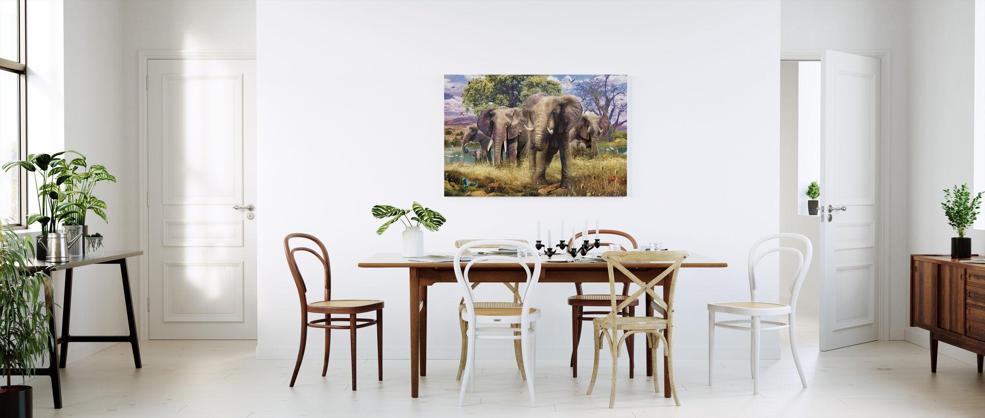 Olifant mislukte - Canvas print - Keuken