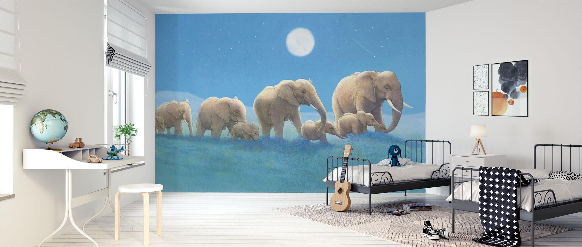 Elephants Walk - Wallpaper - Kids Room