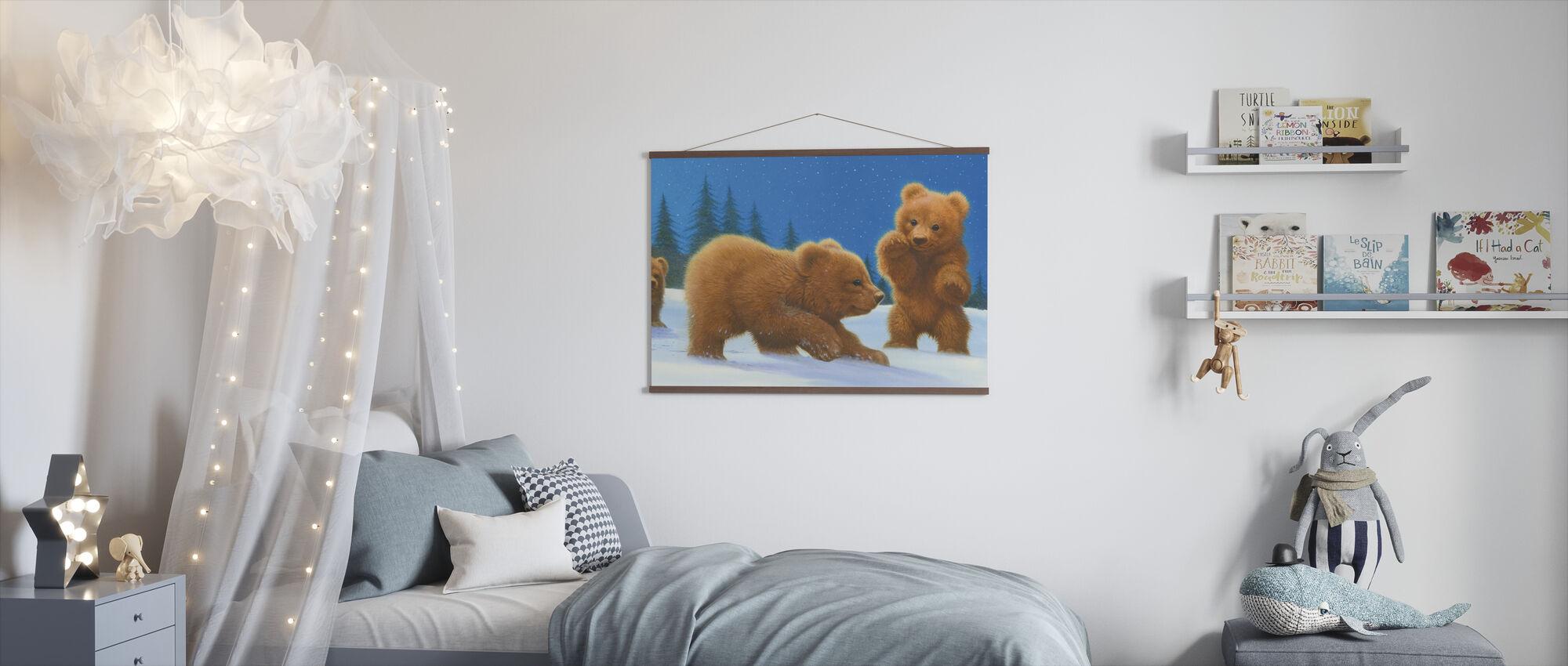 Seuraa karhua - Juliste - Lastenhuone