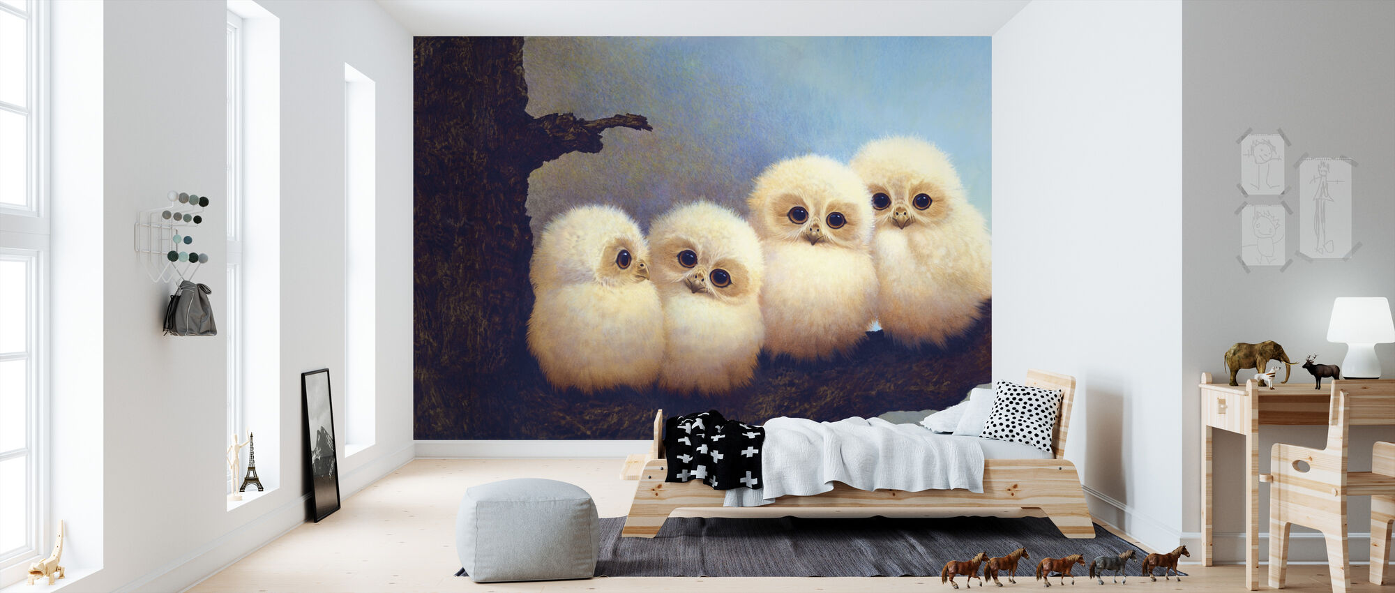 The Owlets - Wallpaper - Kids Room