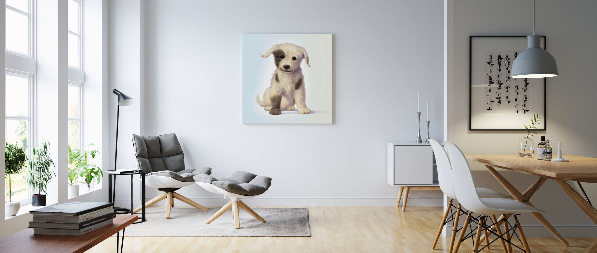 Puppy - Canvas print - Living Room