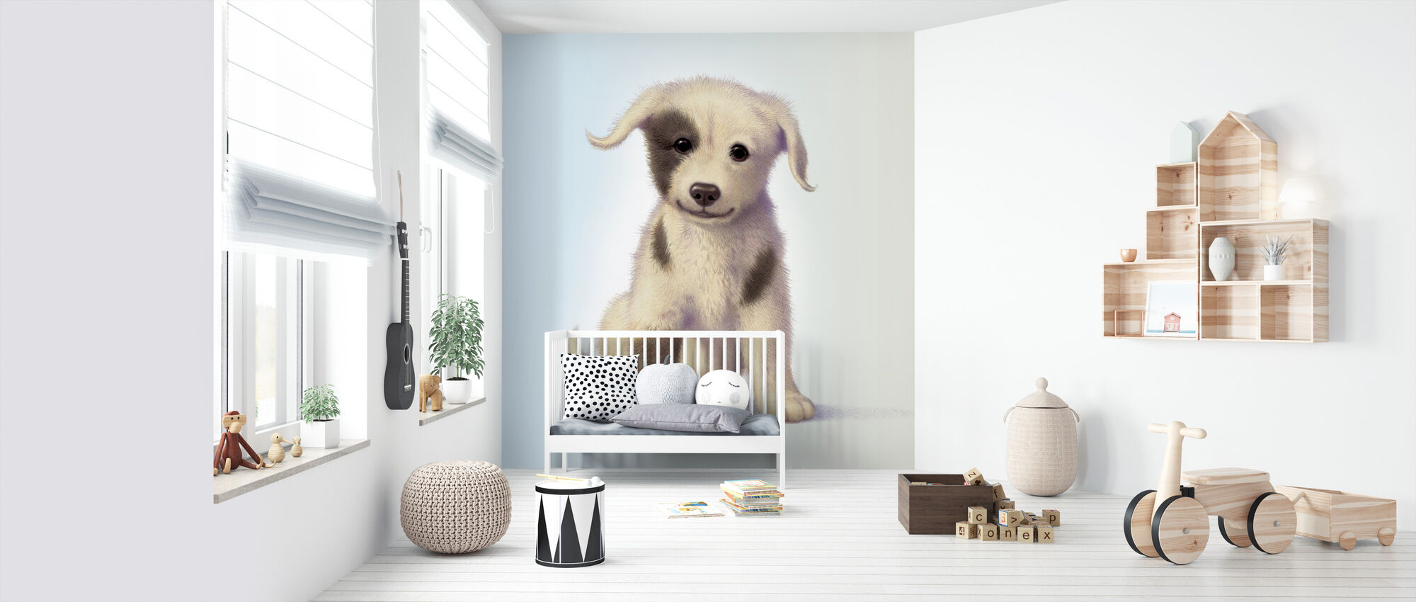 Puppy - Wallpaper - Nursery