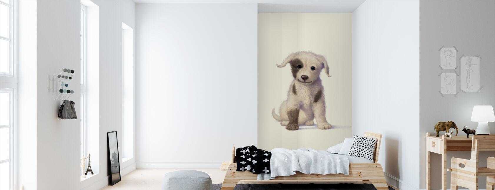 Puppy - Behang - Kinderkamer
