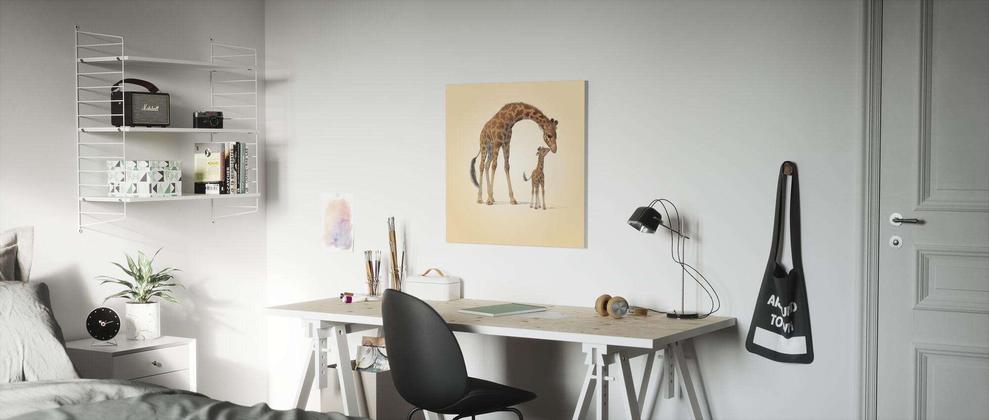 Giraffe Kalf - Canvas print - Kinderkamer