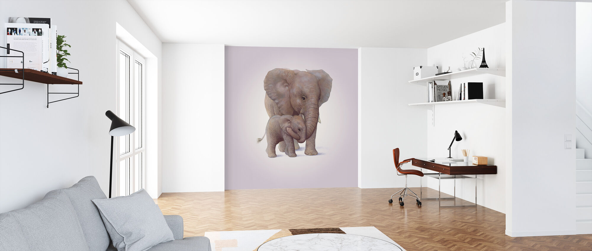 Elephant Calf - Wallpaper - Office