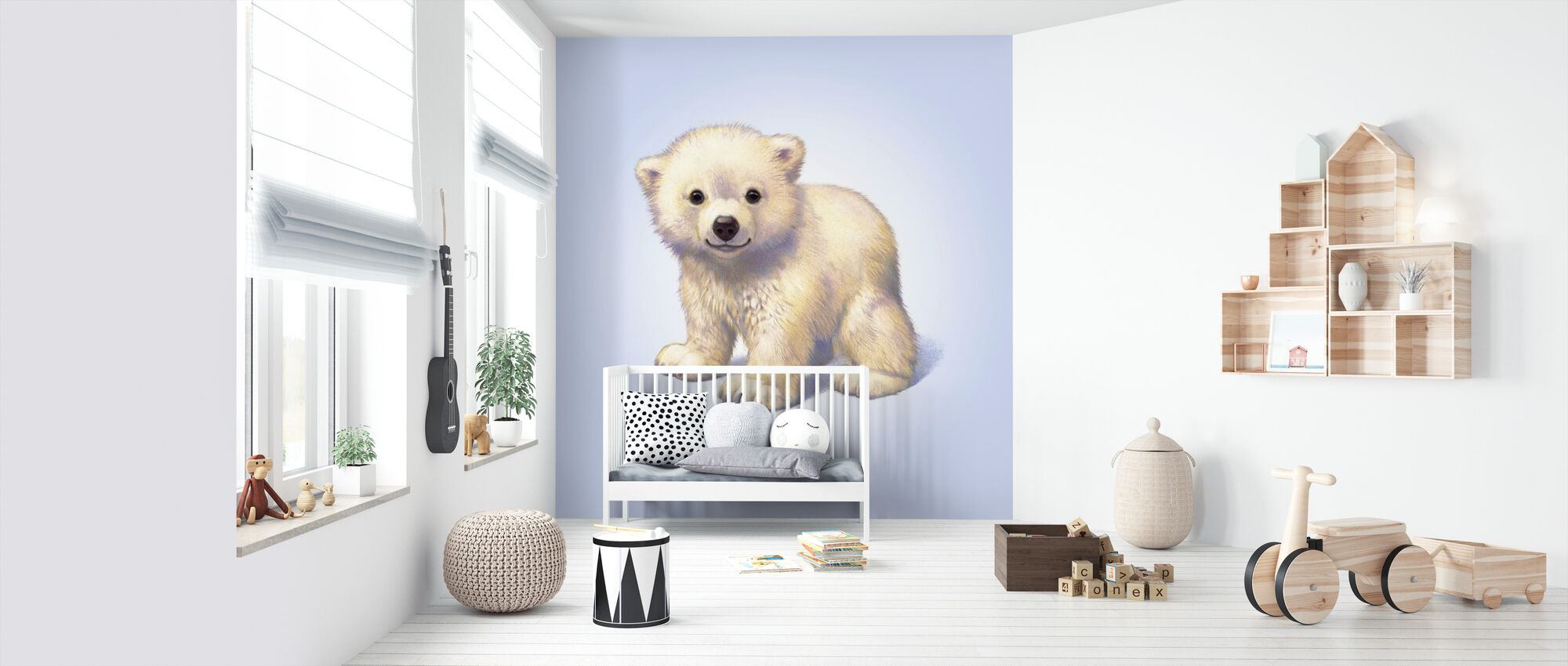 Polar Bear Cub - Wallpaper - Nursery