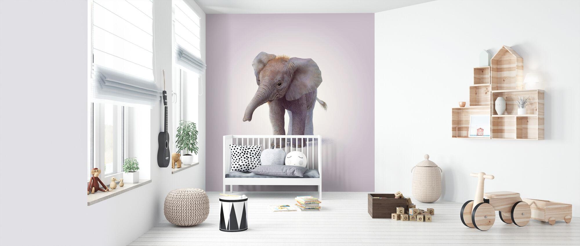 Elephant Calf - Wallpaper - Nursery