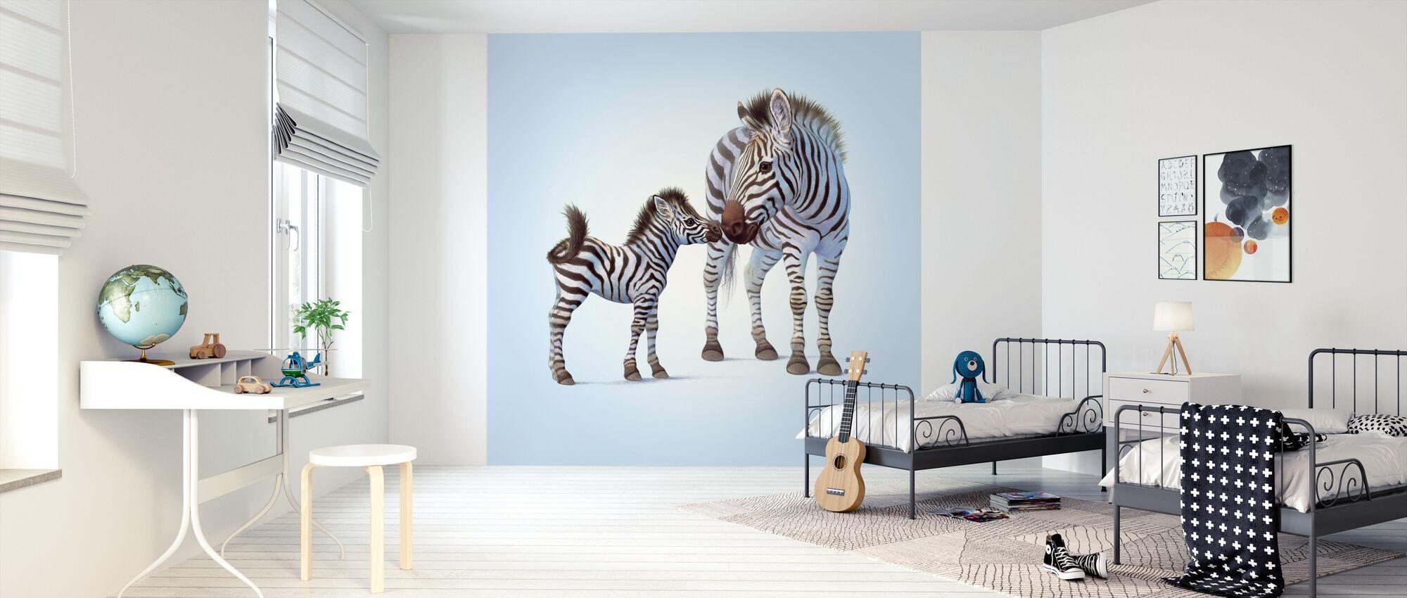 Zebraföl - Tapet - Barnrum