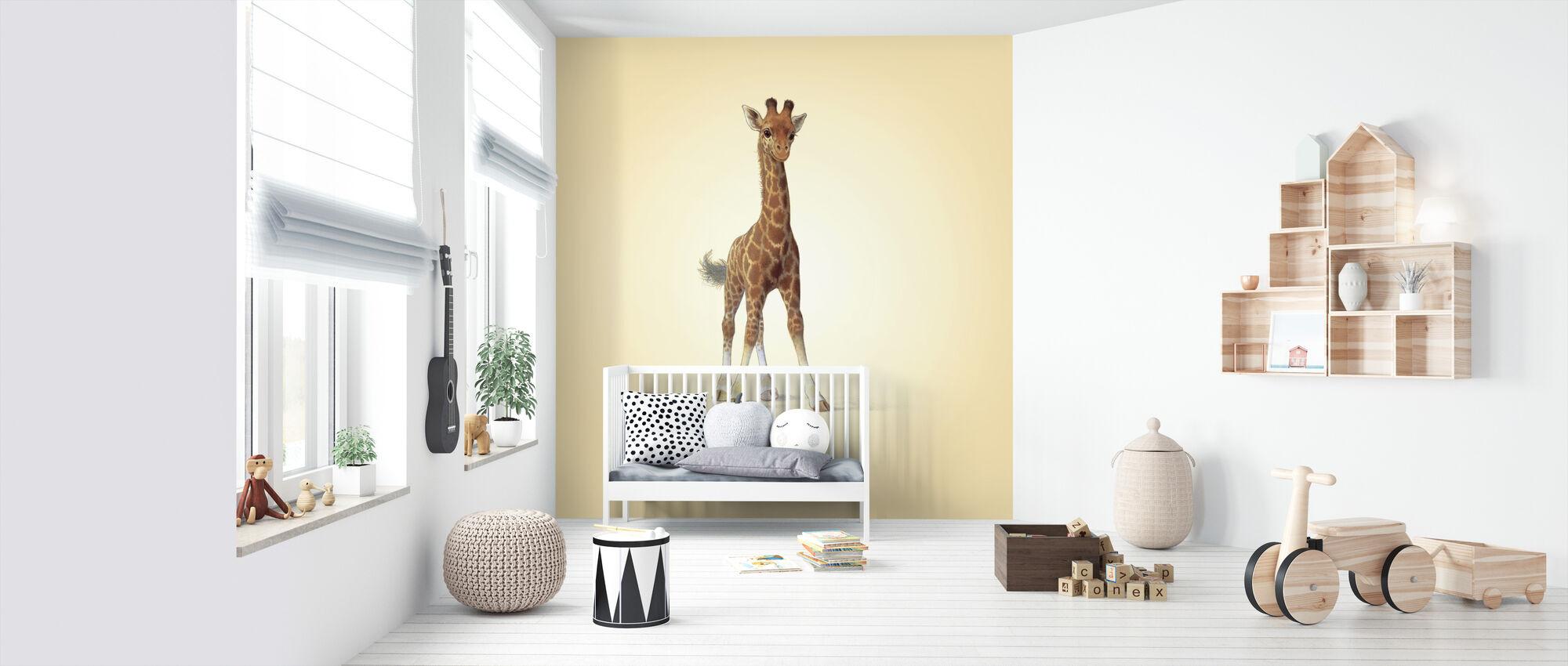 Giraffe Calf - Wallpaper - Nursery