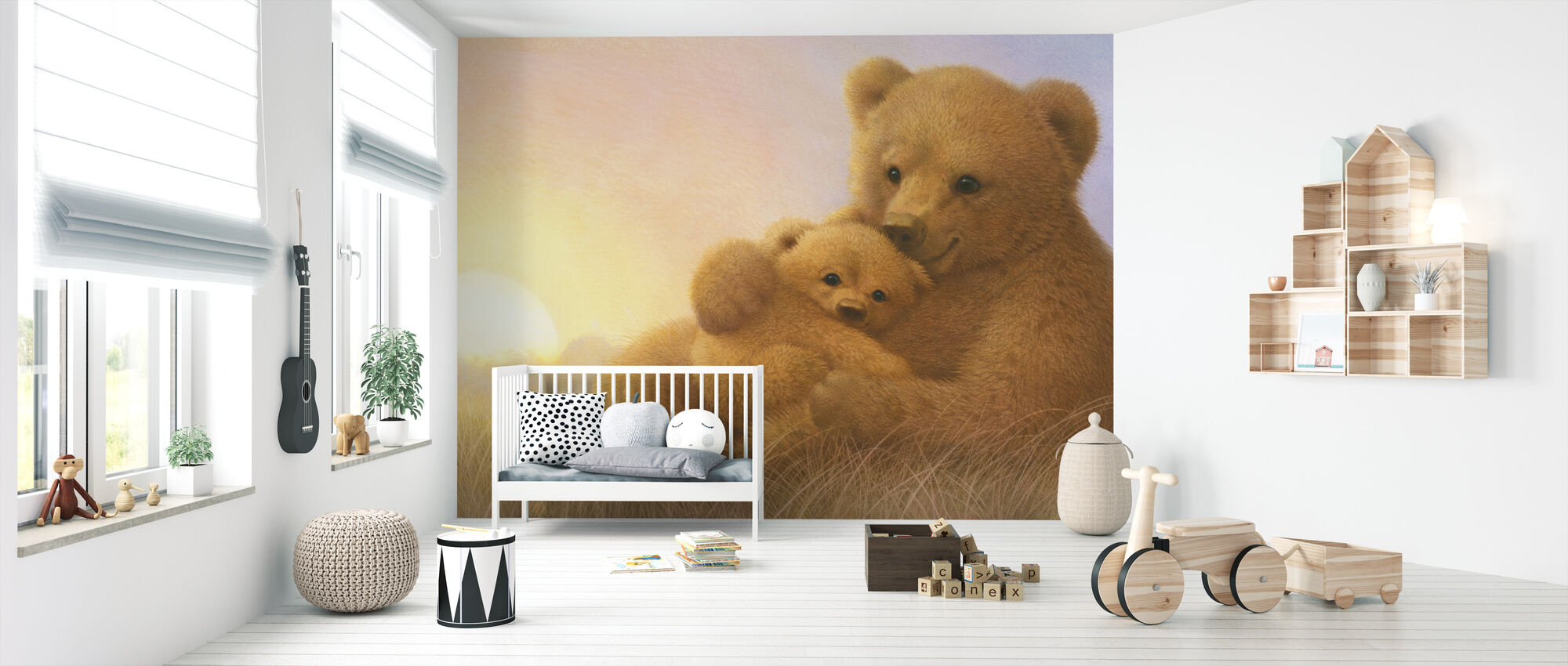 Bear Cub - Wallpaper - Nursery