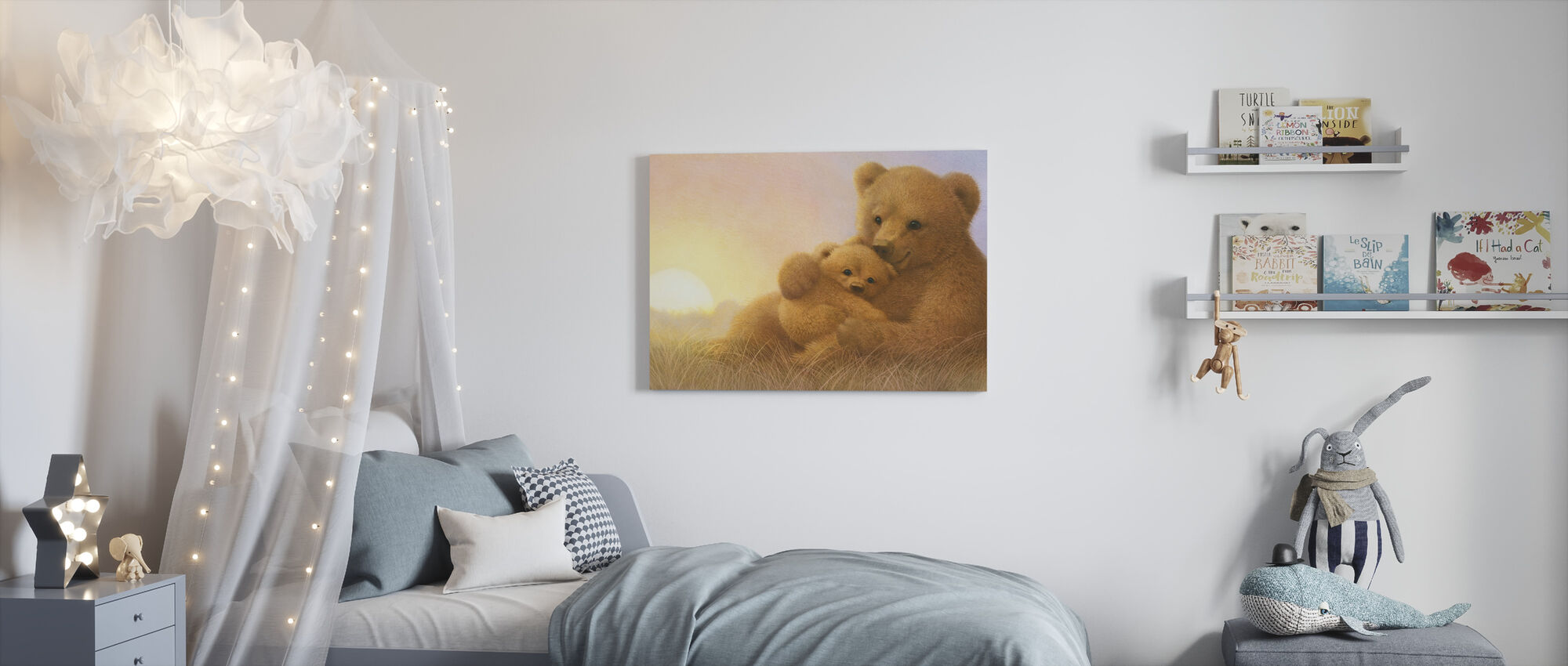 Bear Cub - Canvas print - Kids Room