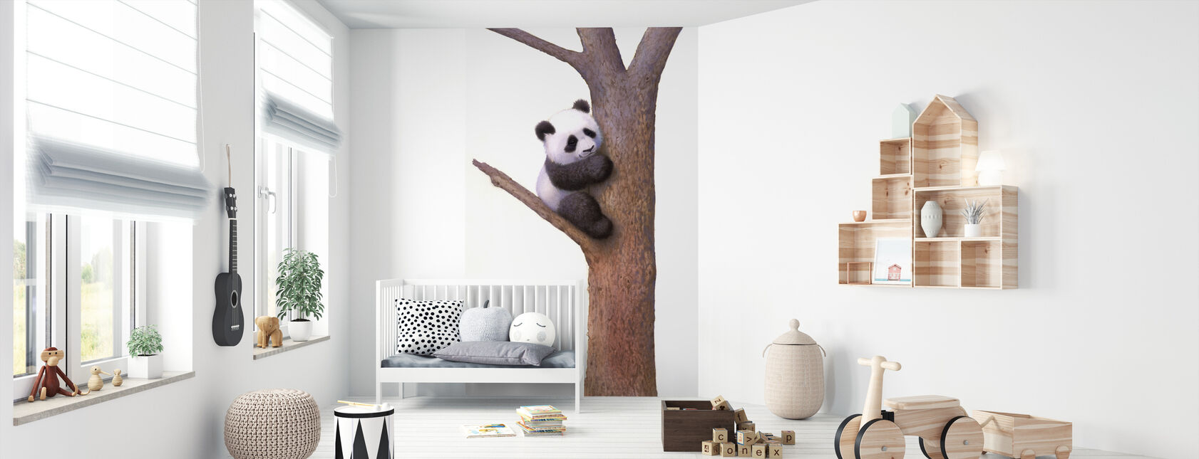 Pishu Panda - Behang - Babykamer