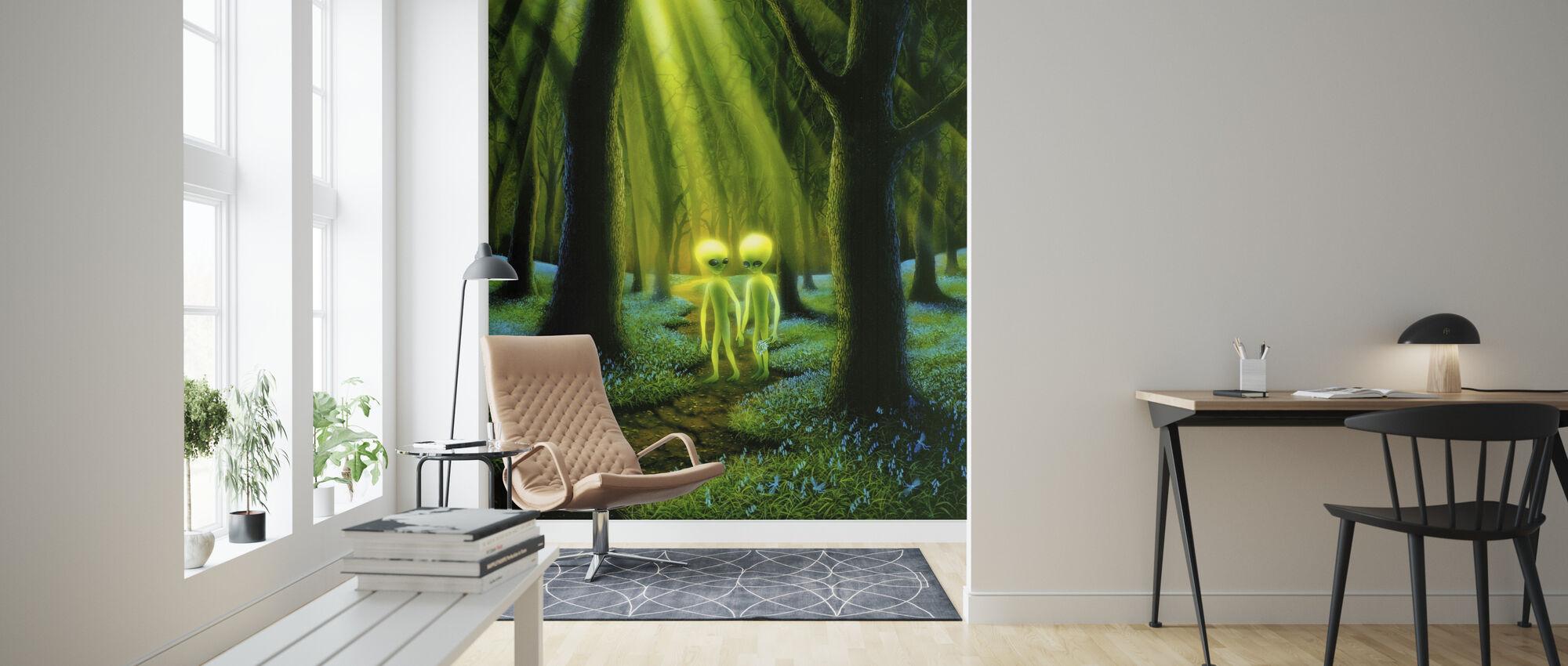Alien Woods - Tapete - Wohnzimmer