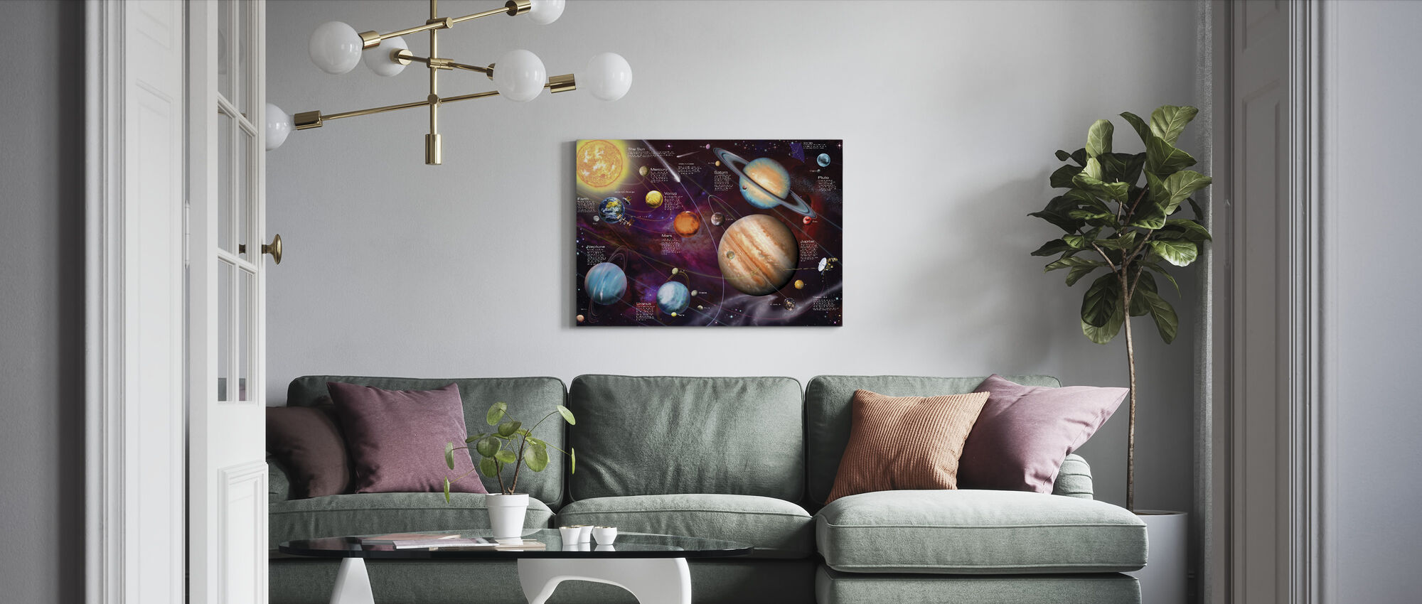 Solar System - Canvas print - Living Room