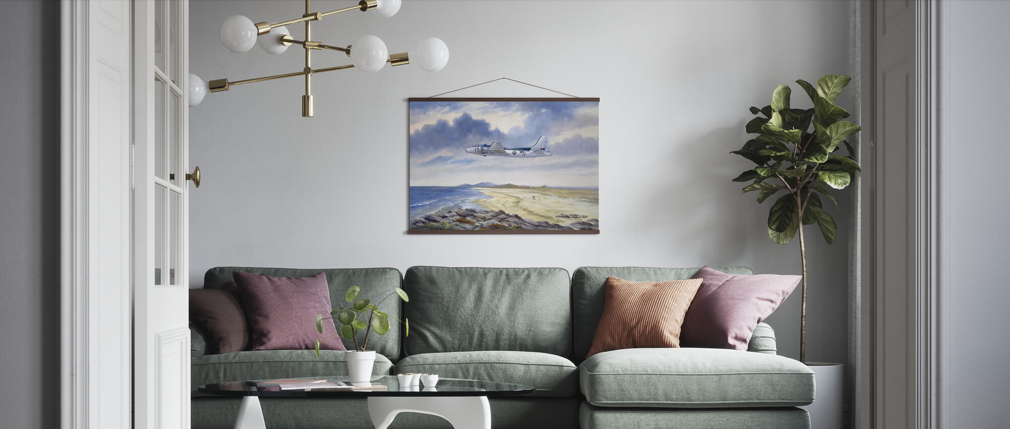 B17 Over Benbecula - Poster - Living Room