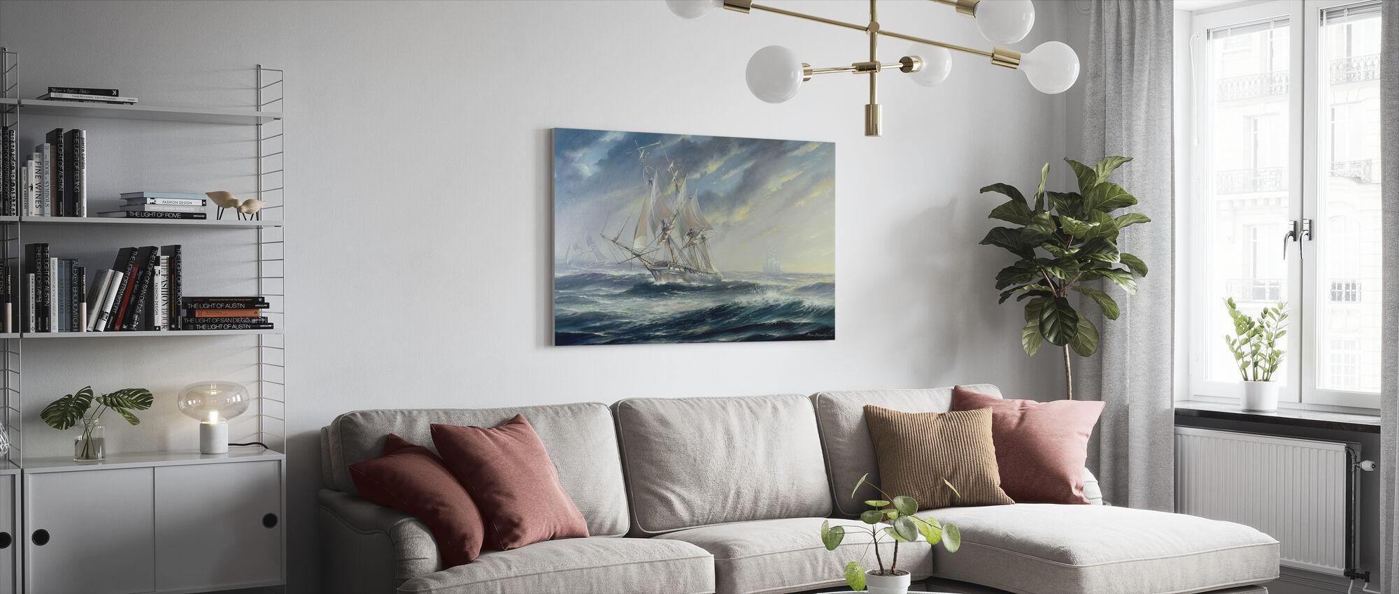 Eyes of the Fleet 38 Gun Frigate - Canvas print - Living Room