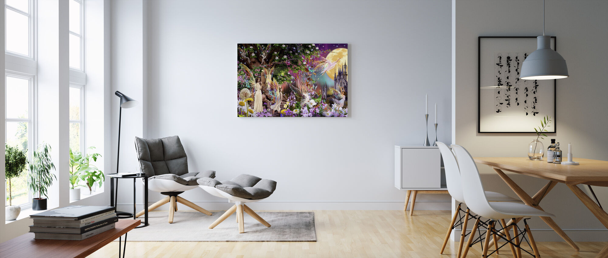 Fairy Triptych - Canvas print - Living Room