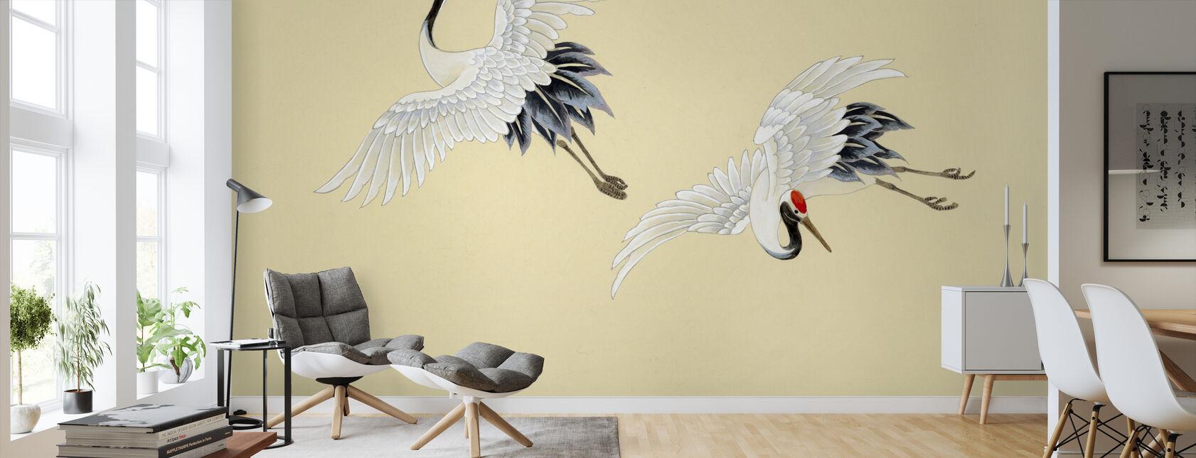 Two Cranes - Wallpaper - Living Room