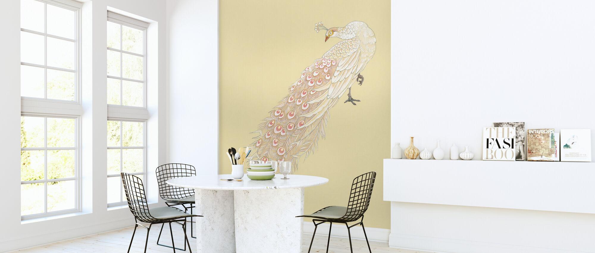 Hvit Påfugl - Tapet - Kjøkken