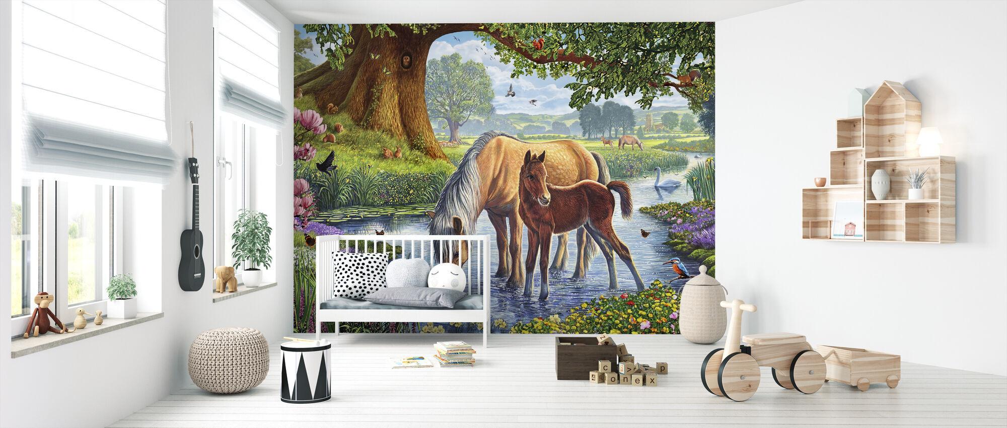 Fell Ponys - Tapete - Babyzimmer